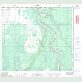 Canadian Topo Map - Deadwood - Map 084C11