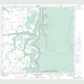 Canadian Topo Map - Buchanan Creek - Map 084C14