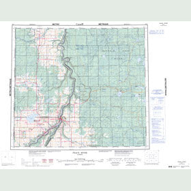 Canadian Topo Map - Peace River - Map 084C
