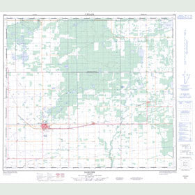 Canadian Topo Map - Fairview - Map 084D01