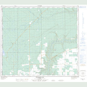 Canadian Topo Map - Boundary Lake - Map 084D05