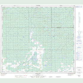 Canadian Topo Map - Deer Hill - Map 084D08