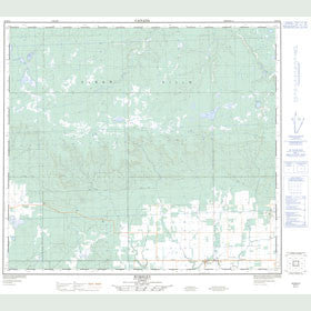 Canadian Topo Map - Worsley - Map 084D11