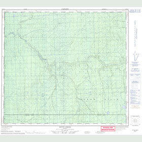 Canadian Topo Map - Betts Creek - Map 084D13