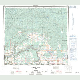 Canadian Topo Map - Clear Hills - Map 084D