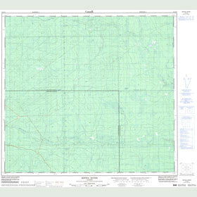 Canadian Topo Map - Botha River - Map 084E08