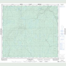 Canadian Topo Map - Dryden Creek - Map 084E09
