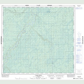Canadian Topo Map - Vader Creek - Map 084E10