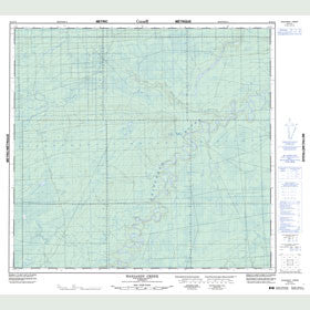 Canadian Topo Map - Waniandy Creek - Map 084E15
