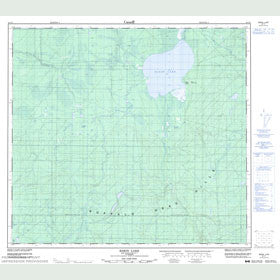 Canadian Topo Map - Bison Lake - Map 084F01