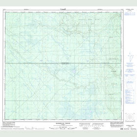 Canadian Topo Map - Rossbear Creek - Map 084F08