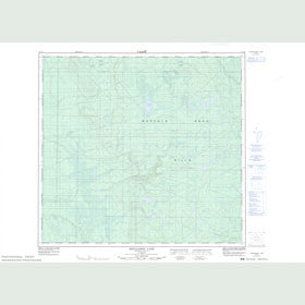 Canadian Topo Map - Donaldson Lake - Map 084F09