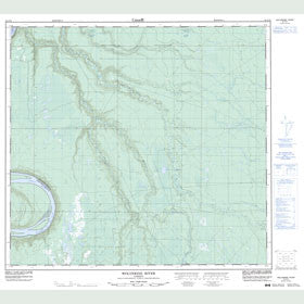 Canadian Topo Map - Wolverine River - Map 084F10