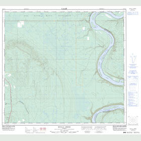 Canadian Topo Map - Scully Creek - Map 084F11