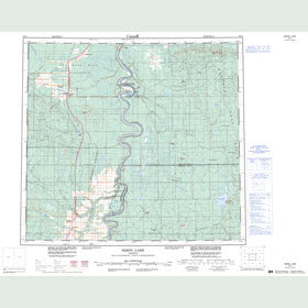 Canadian Topo Map - Bison Lake - Map 084F