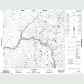 Canadian Topo Map - Bad Rapids - Map 084G02