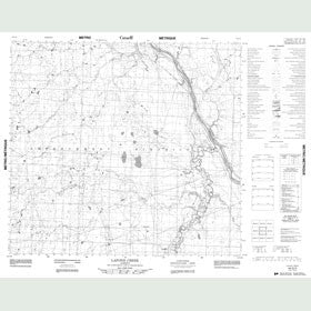 Canadian Topo Map - Lafond Creek - Map 084G03