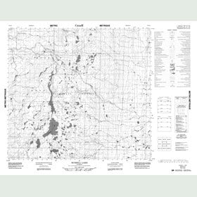 Canadian Topo Map - Russell Lake - Map 084G04