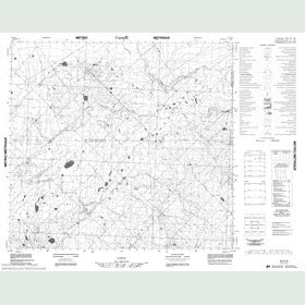 Canadian Topo Map - Map 084G08