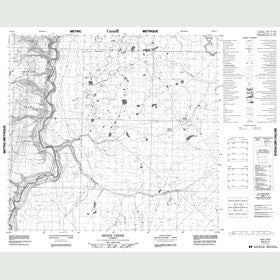 Canadian Topo Map - Senex Creek - Map 084G11