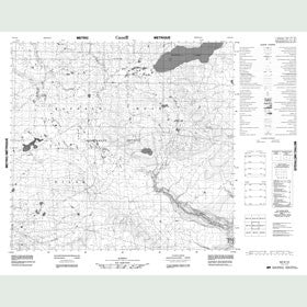 Canadian Topo Map - Map 084G12