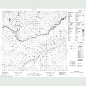 Canadian Topo Map - Map 084H01
