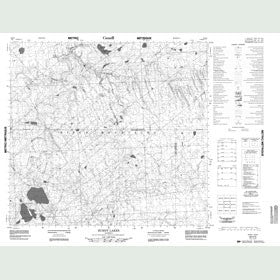 Canadian Topo Map - Burnt Lake - Map 084H05