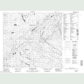 Canadian Topo Map - Chelsea Creek - Map 084H08