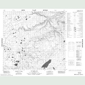 Canadian Topo Map - Bayard Lake - Map 084H16