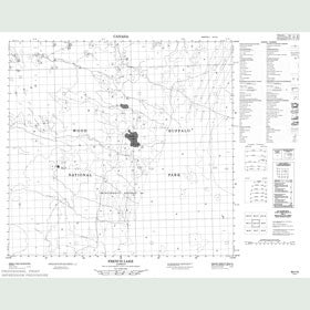 Canadian Topo Map - French Lake - Map 084I10