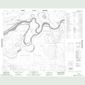 Canadian Topo Map - Buchanan Lake - Map 084I12
