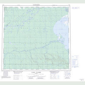 Canadian Topo Map - Lake Claire - Map 084I