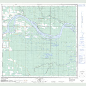 Canadian Topo Map - Sled Island - Map 084J05