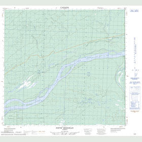 Canadian Topo Map - Fifth Meridian - Map 084J09