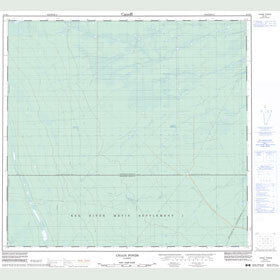 Canadian Topo Map - Chain Ponds - Map 084K04