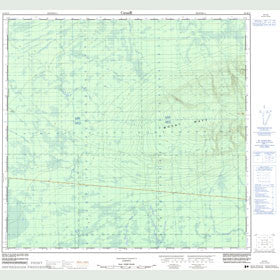 Canadian Topo Map - Map 084K12