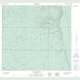 Canadian Topo Map - Faria Creek - Map 084L01
