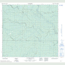 Canadian Topo Map - Chasm Creek - Map 084L04