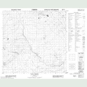 Canadian Topo Map - Tate Creek - Map 084M08
