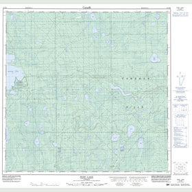 Canadian Topo Map - Pert Lake - Map 084M09