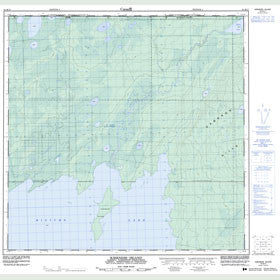 Canadian Topo Map - Kirkness Island - Map 084M15