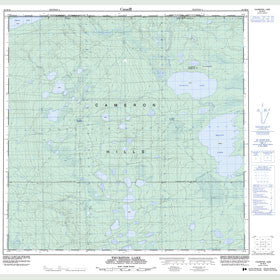 Canadian Topo Map - Thurston Lake - Map 084M16