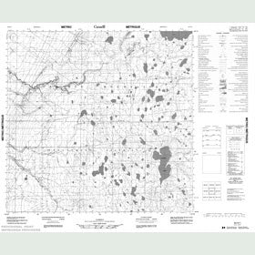 Canadian Topo Map - Map 084N01