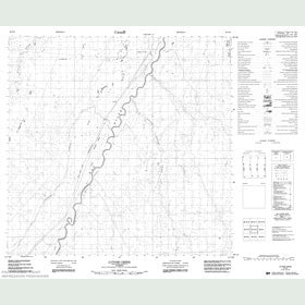 Canadian Topo Map - Lutose Creek - Map 084N06