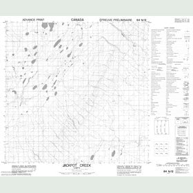Canadian Topo Map - Jackpot Creek - Map 084N12