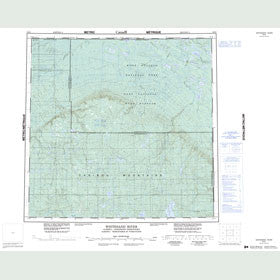 Canadian Topo Map - Whitesand River - Map 084O
