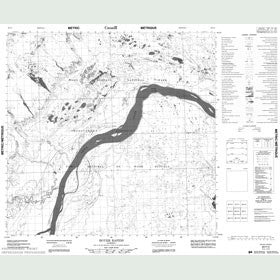 Canadian Topo Map - Boyer Rapids - Map 084P02