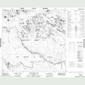 Canadian Topo Map - Patenaude Lake - Map 084P03