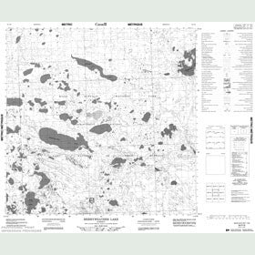 Canadian Topo Map - Merryweather Lake - Map 084P06