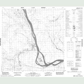 Canadian Topo Map - Salt River - Map 085A01